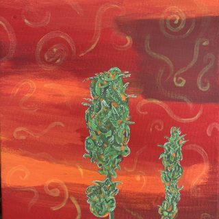 Green Crack Weed Painting