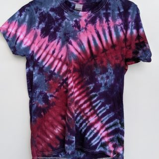 small blurple tie-dye