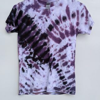 XS Black Purple Tie-dye