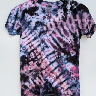 Extra Small Black Purple Pink Blue Tie-dye