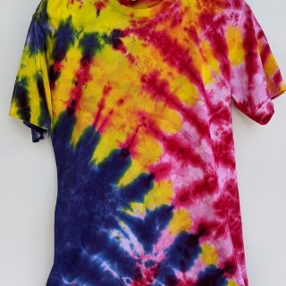 Blue/Yellow/Pink Tie-Dye