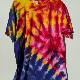 Large Blue Yellow Red Pink Tie-dye