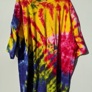 4xl Blue Yellow Red Pink Tie-dye